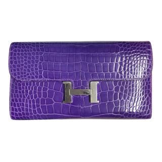 Hermes Electric Purple Constance Wallet