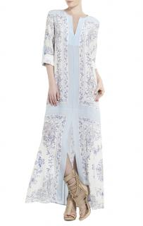BCBG Max Azria Olivia Scarf-Printed Tunic Dress