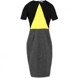 Victoria Beckham Wool & Silk Geometric Dress
