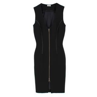 L'agence Black Eva Zip Front Dress