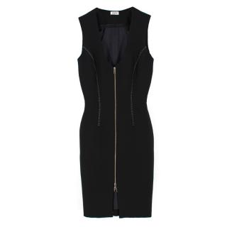 L'agence Black Eva Zip Front Dress