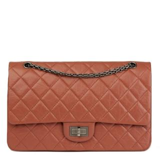 Chanel Aged Calfskin Brick Leather 2.55 Reissue 227 Double Double Flap