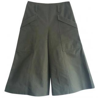 Balenciaga cropped dark green trousers