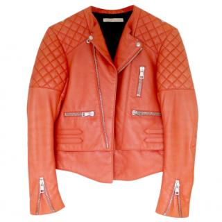 Balenciaga Orange Leather Jacket