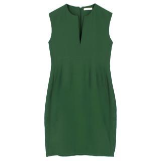 Celine Green Sleeveless Shift Dress