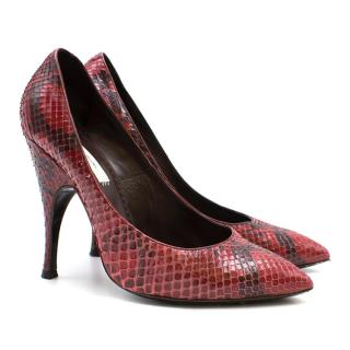Marc Jacobs Python Pointed Pumps
