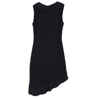 Valentino Black Knit Ruffled Dress