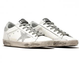 Golden Goose superstar white glitter trainers