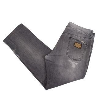 Dolce & Gabbana Men's Distressed Jeans