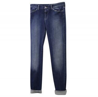 Emporio Armani Hi Rise Slim Leg Denim Jeans