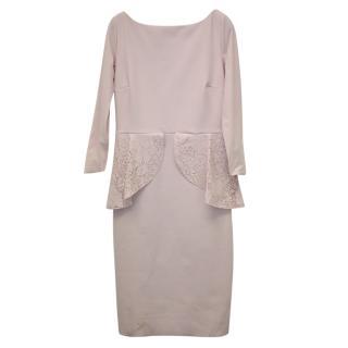 Chiara Boni Blush Peplum Dress