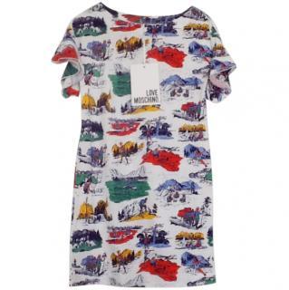 Love Moschino Printed T Shirt Dress