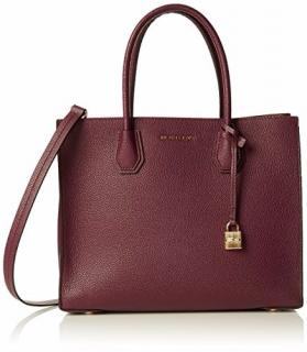 Michael Kors Oxblood Leather Mercer Bag