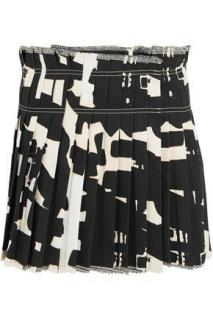 Isabel Marant Women's Black Kib Printed Denim Mini Skirt