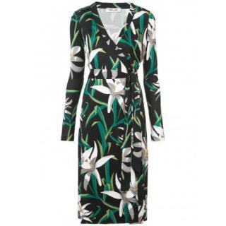 Diane Von Furstenberg Cybil Floral Silk Wrap Dress