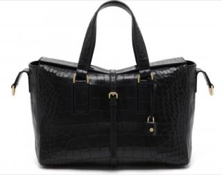Mulberry Roxette Croc Embossed Black Bag
