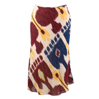 Christian Dior Silk Patterned Skirt