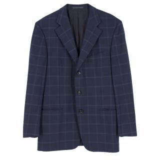 Ermenegildo Zenga at Fortnum & Mason Wool Plaid Blazer