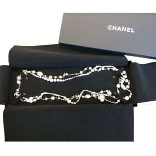 Chanel CC Metal, glass and Pearl Necklace