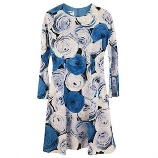 Moschino Cheap and Chic Floral Silk Dress