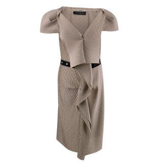 Roland Mouret Textured Ruffle Dress