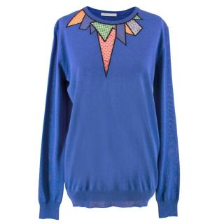 Christopher Kane Blue Cut-out Sweater