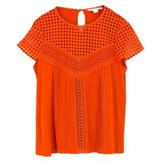 Diane Von Furstenberg Crochet Top