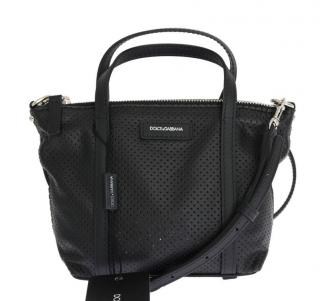 Dolce And Gabbana perforated mini tote bag