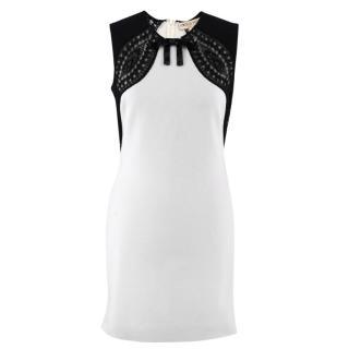 Emilio Pucci Monochrome Lace Panel Dress