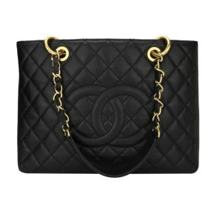 CHANEL Black Caviar Grand Shopping Tote (GST) Bag