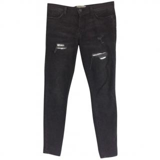 Current Elliott Black Skinny Jeans 28