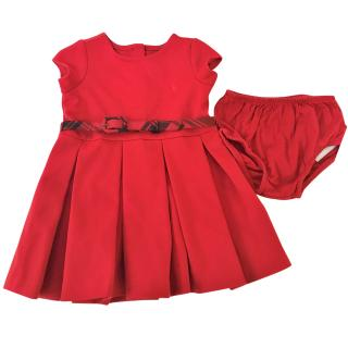 Ralph Lauren girl's red bloomers and dress 6 months