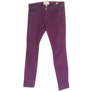 Current Elliott Purple Skinny Jeans 26