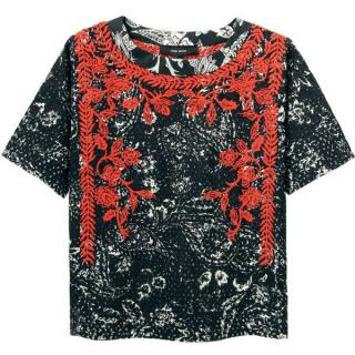 Isabel Marant Napoli Embroidered Top