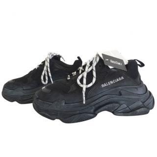 Balenciaga Triple S Black Sneakers