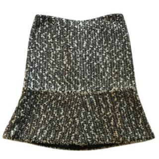 Chanel monochrome tweed skirt