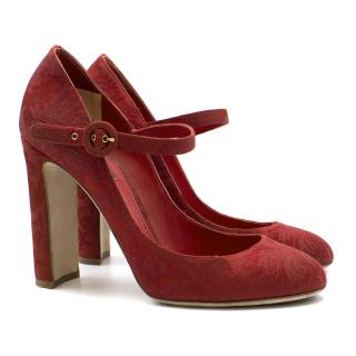Dolce & Gabbana Red Mary Jane Heels