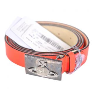Vivienne Westwood electric red leather belt