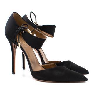 Aquazzura Satin Lace Tie Sandals