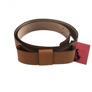 Valentino Tan Bow Belt