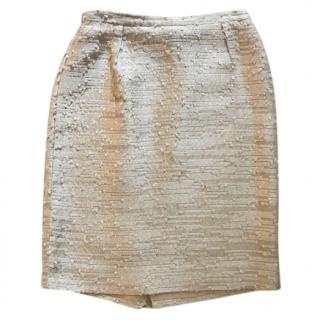 Valentino Ivory Pencil skirt