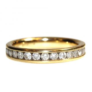 Goldsmiths 18ct Yellow Gold 0.50cttw Diamond Half Eternity Ring