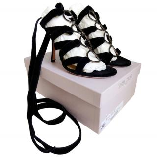 Jimmy Choo Velvet Jela Sandals