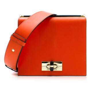 Giorgio Armani Current Collection Smooth Leather Crossbody Bag