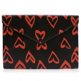 Dolce & Gabbana Heart Print Envelope pouch