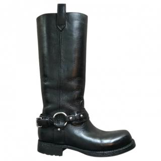 Ralph Lauren Leather Biker Boots