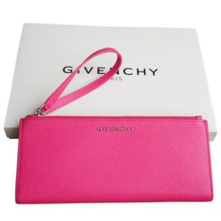 Givenchy Pink Pandora double Zip Purse Clutch