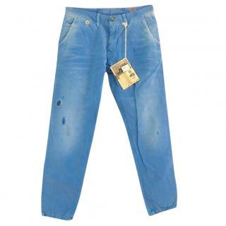 PRPS men's pale blue jeans, great summer cut, 34, BNWT