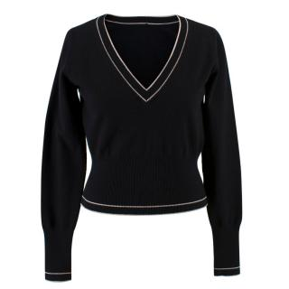 Alaia Wool V-neck Jumper