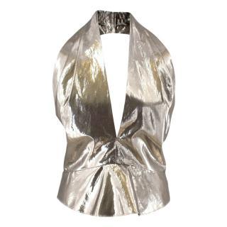 Isabel Marant Metallic Halterneck Top